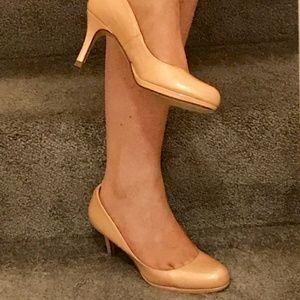 L K Bennett Nude Pink Patent Heels